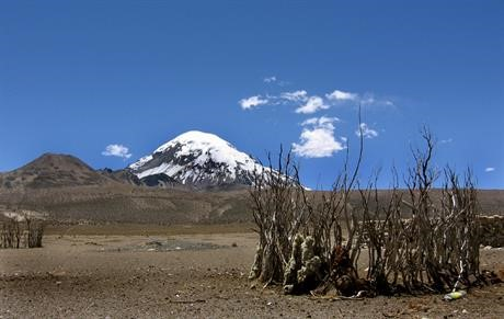 View of the Sajama mountain